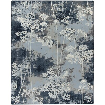 Corell Park Springs Night  Blue Area Rug Rug Size: Rectangle 109 x 132