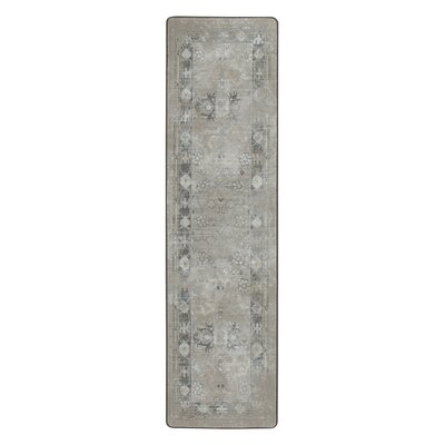Tate Worn Pewter Area Rug Rug Size: Runner 21 x 78