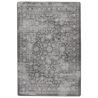 Abba Burnished Silver Area Rug Rug Size: Rectangle 78 x 109
