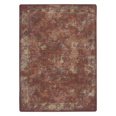 Tate Adobe Red Area Rug Rug Size: 54 x 78