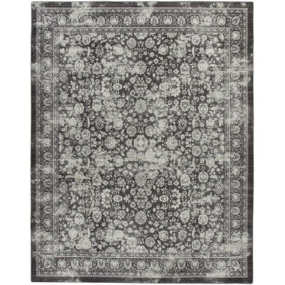 Abba Onyx Wash Area Rug Rug Size: Rectangle 109 x 132