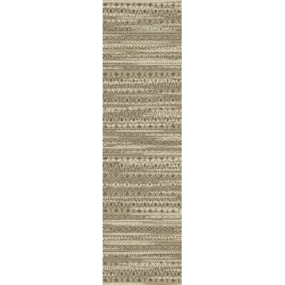 Tate Antique Tan Area Rug Rug Size: Runner 21 x  78