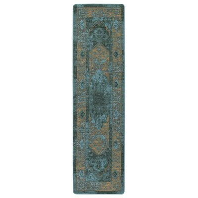 Tate Peacock Green Area Rug Rug Size: Runner 21 x 78