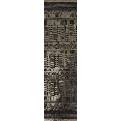 Tate Mudcloth Black Area Rug Rug Size: Runner 21 x 78