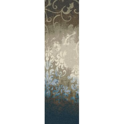 Corell Park Waterline Blue Area Rug Rug Size: Runner 21 x  78