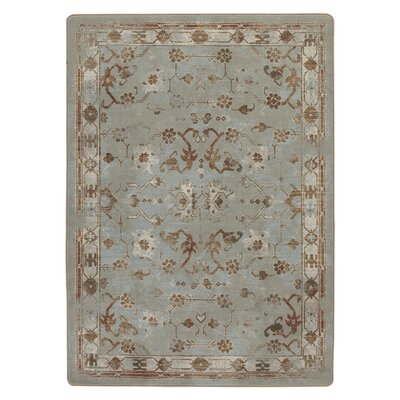 Tate Subtle Aqua Area Rug Rug Size: Rectangle 78 x 109