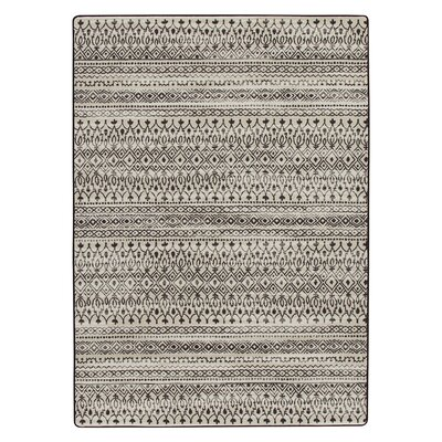 Tate Carbon Brown Area Rug Rug Size: 54 x 78