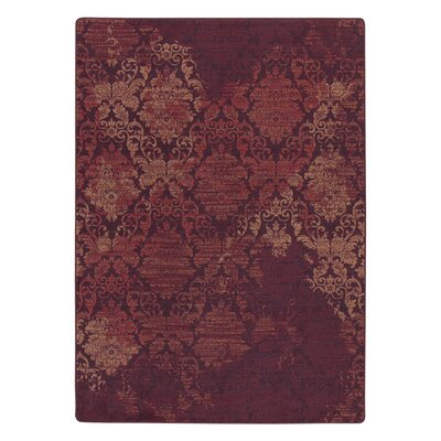 Tate Spiced Red Area Rug Rug Size: 78 x 109