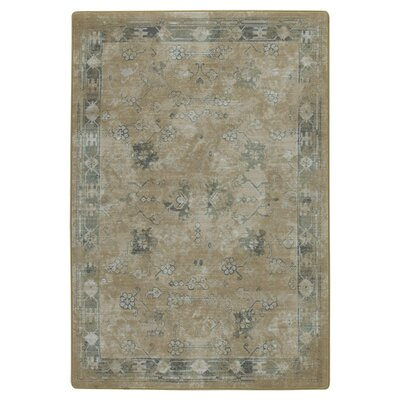 Tate Brushed Gold Area Rug Rug Size: 78 x 109