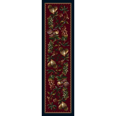 Signature Fruit Medley Garnet Area Rug Rug Size: Rectangle 2'1