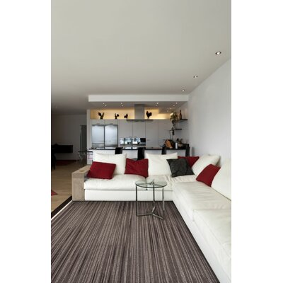 Maldanado Night Rhythm Grayscale Gray Area Rug Rug Size: Rectange 54 x 78