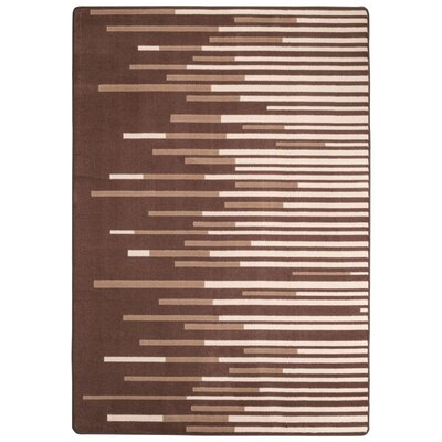 Maldanado Sound Wave Sepia Tan Area Rug Rug Size: Rectange 54 x 78