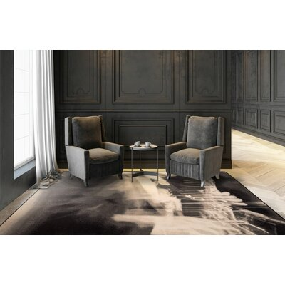 Maldanado Urban Blues Grayscale Gray Area Rug Rug Size: Rectange 109 x 132
