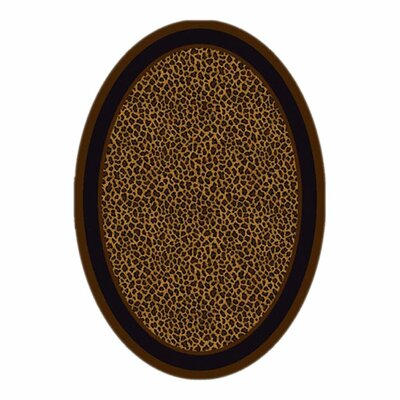 Innovation Leopard Print Zimbala Area Rug Rug Size: Oval 310 x 54