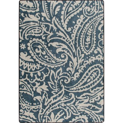 Mix and Mingle Blue Cashmira Empire Rug Rug Size: Rectangle 54 x 78