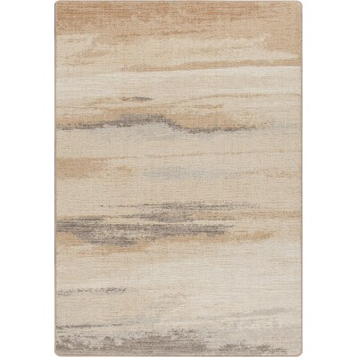 Mix and Mingle Hand-Tufted Brown/Tan Area Rug Rug Size: 54 x 78