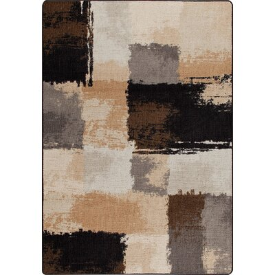 Mix and Mingle Black/Tan Fair And Square Rug Rug Size: 54 x 78