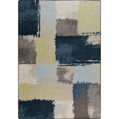 Mix and Mingle Lagoon Fair And Square Rug Rug Size: Runner 21 x 78