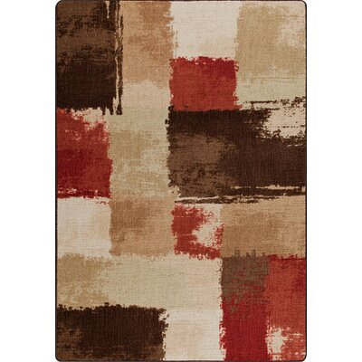 Mix and Mingle Spice Fair And Square Rug Rug Size: 54 x 78