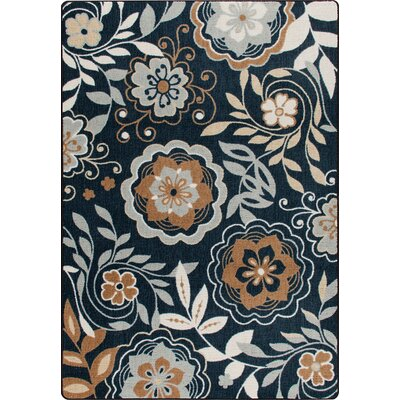 Mix and Mingle Celestial Blue Garden Passage Rug Rug Size: 78 x 109