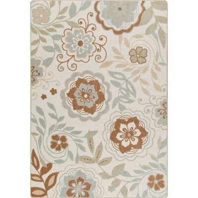 Mix and Mingle Ivory Garden Passage Rug Rug Size: Rectangle 54 x 78
