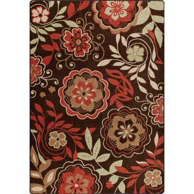 Mix and Mingle Native Red Garden Passage Rug Rug Size: Rectangle 78 x 109