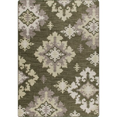 Mix and Mingle Loden Highland Star Rug Rug Size: 54 x 78