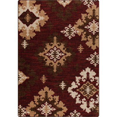 Mix and Mingle Crimson Highland Star Rug Rug Size: 54 x 78