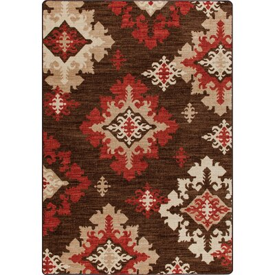 Mix and Mingle Mahogany Highland Star Rug Rug Size: 54 x 78