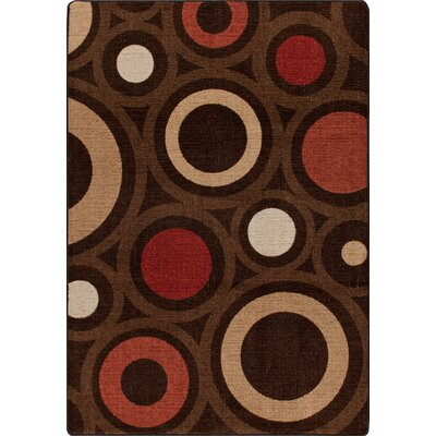 Mix and Mingle Chocolate in Focus Rug Rug Size: Runner 21 x 78