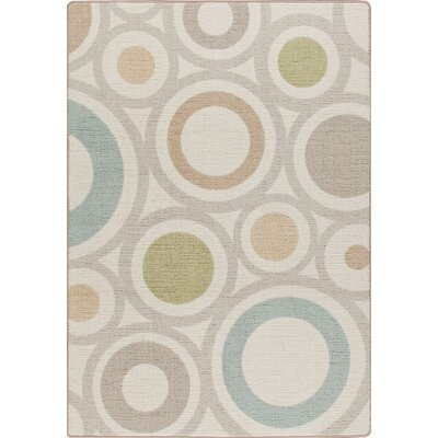 Mix and Mingle Cream in Focus Rug Rug Size: Rectangle 78 x 109