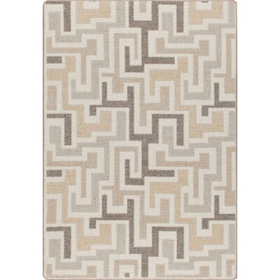 Mix and Mingle Neutral Junctions Rug Rug Size: 54 x 78