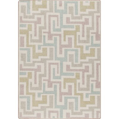 Mix and Mingle Pastel Junctions Rug Rug Size: Rectangle 78 x 109