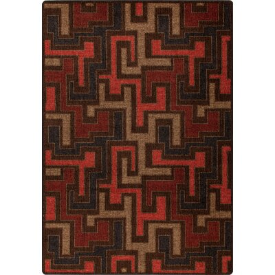 Mix and Mingle Red Umber Junctions Rug Rug Size: 54 x 78