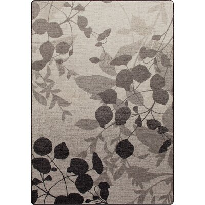 Mix and Mingle Gray Mist Natures Silhouette Rug Rug Size: 54 x 78