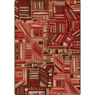 Mix and Mingle Red Oak Urban Order Rug Rug Size: Rectangle 78 x 109