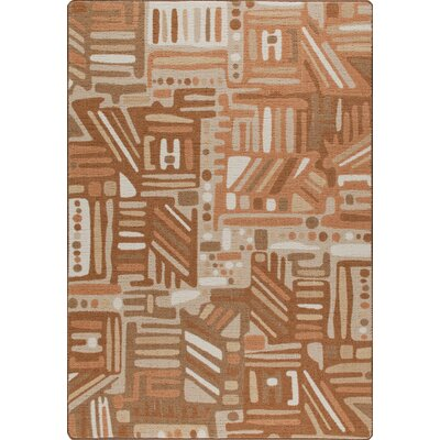 Mix and Mingle Terra Cotta Urban Order Rug Rug Size: Rectangle 54 x 78