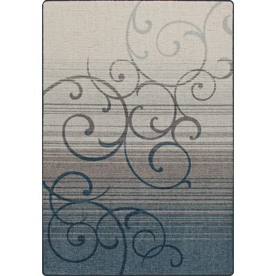 Mix and Mingle Bluestone Whispering Wind Rug Rug Size: 54 x 78