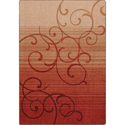 Mix and Mingle Festival Red Whispering Wind Rug Rug Size: Runner 21 x 78
