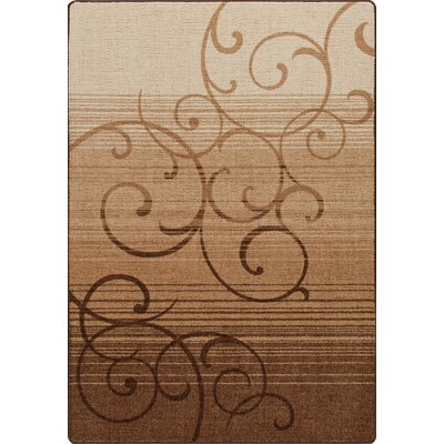 Mix and Mingle Umber Whispering Wind Rug Rug Size: Runner 21 x 78