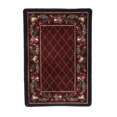 Signature Fruit Medley Garnet Area Rug Rug Size: Rectangle 28 x 310