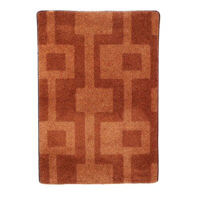 Modern Times Uptown Fall Orange Area Rug Rug Size: Oval 54 x 78