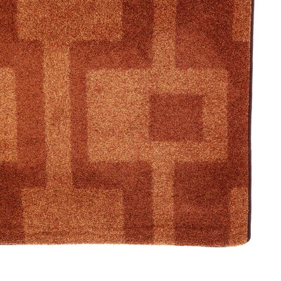Modern Times Uptown Fall Orange Area Rug Rug Size: Square 77
