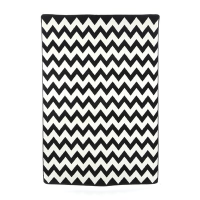 Vibe Techno Black/White Area Rug Rug Size: Rectangle 54 x 78