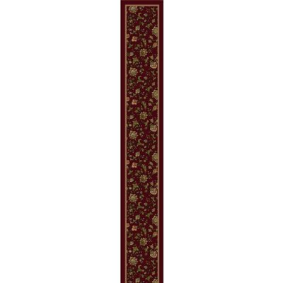 Design Center Cranberry Khorrasan Area Rug Rug Size: Runner 24 x 118
