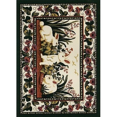 Spring Seasonal Cotton Tales Rabbit Area Rug Rug Size: Rectangle 28 x 310