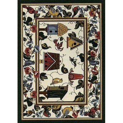 Spring Seasonal Feathered Friends Area Rug Rug Size: Rectangle 28 x 310