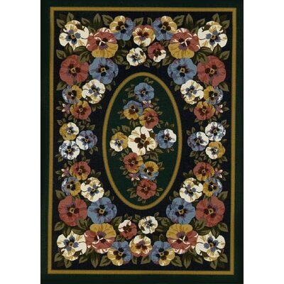 Spring Seasonal Black/Gray Garden View Sunset Area Rug Rug Size: Rectangle 28 x 310