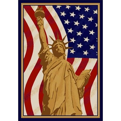 Summer Seasonal Lady Liberty America Area Rug Rug Size: 28 x 310