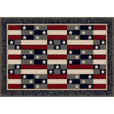 Summer American Patchwork Novelty Rug Rug Size: Rectangle 28 x 310